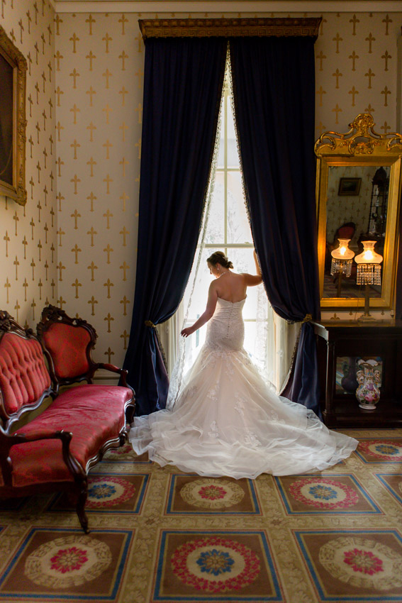 Bridal Portrait at Oakland's Mansion