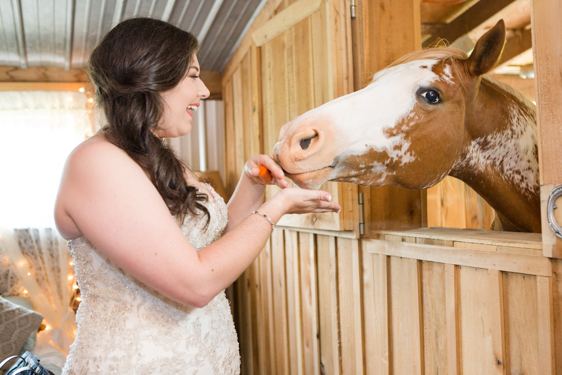 How many venues have the ability for a wonderfully sweet horse to wish you well right in your bridal suite!
