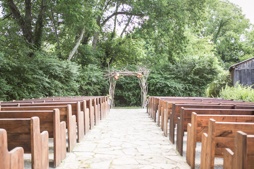 Outdoor Ceremony location at Meadow Hill Farm