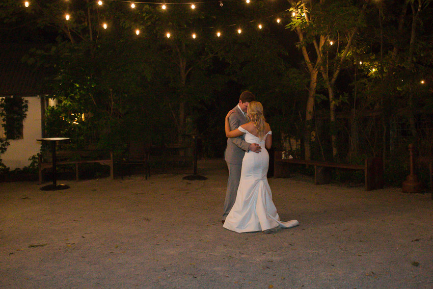 Last Dance of the night in the beautiful courtyard at Meadow Hill Farm.