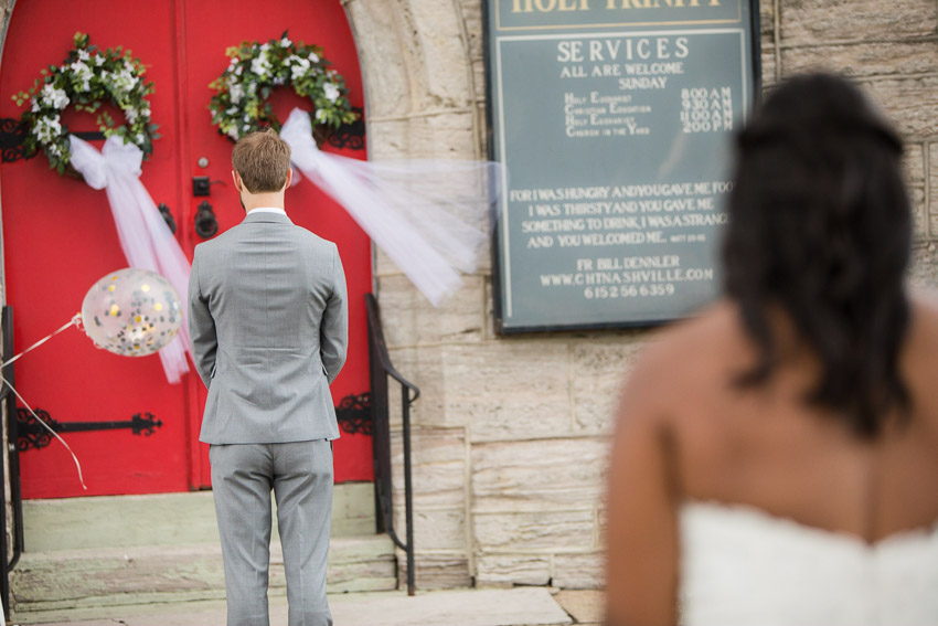 Bianca and David opted for a private first look on their wedding day.