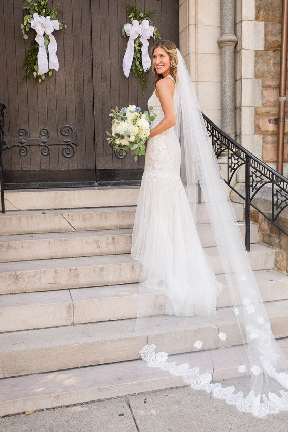 Lauren's veil was custom made and it is perfect!