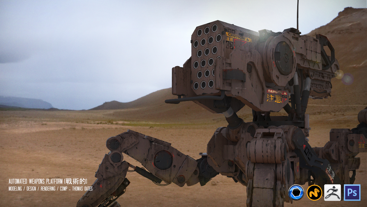 The model was designed in MODO and Zbrush withrenders in Keyshot. Textures and final adjustments made in Photoshop.