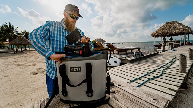 The Yeti Hopper, great for keeping beer cold and RED cameras dry while saltwater fly fishing in Belize. For real, it's our favorite camera bag. @yeti @bluebonefishbelize @fishonenergy @chasing_ghosts_charters  #belize #saltwaterflyfishing #flyfishing #builtforthewild #getupgetout #kansasoutdoorcorps #adventure #filmmaking  #catchandrelease #fishing #outdoors #onthefly #cinematographer #film #cinematography