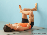 Pigeon Pose at a Wall (Hip Stretch)