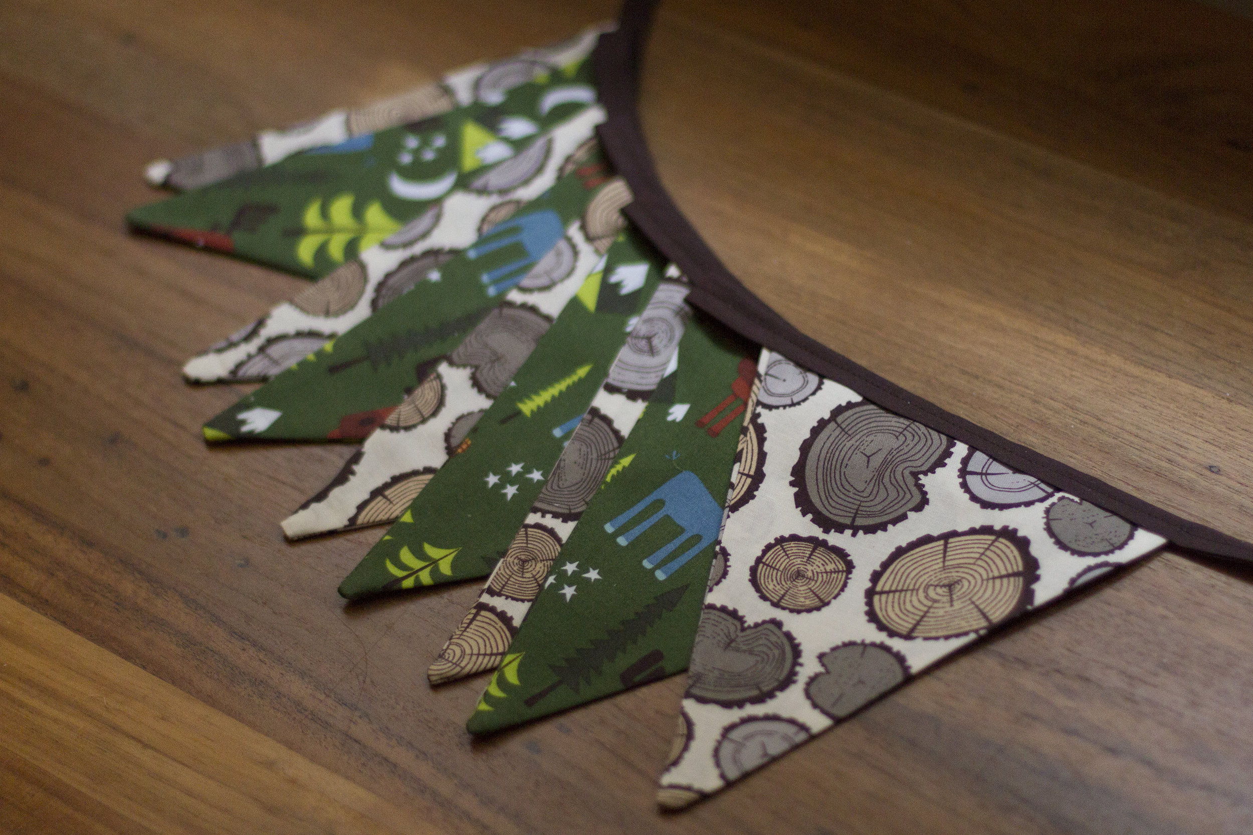 bunting - woodland themed