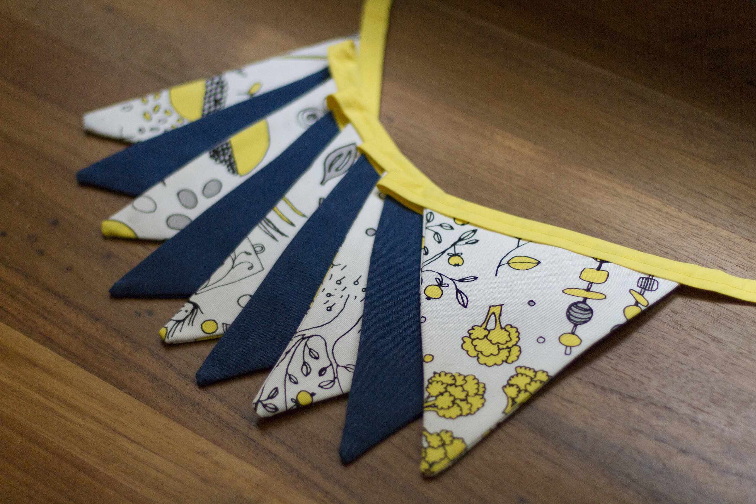 bunting - blue & yellow