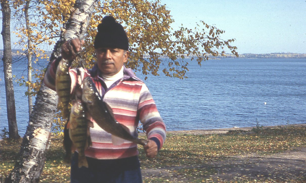 My grandpa loved to fish.
