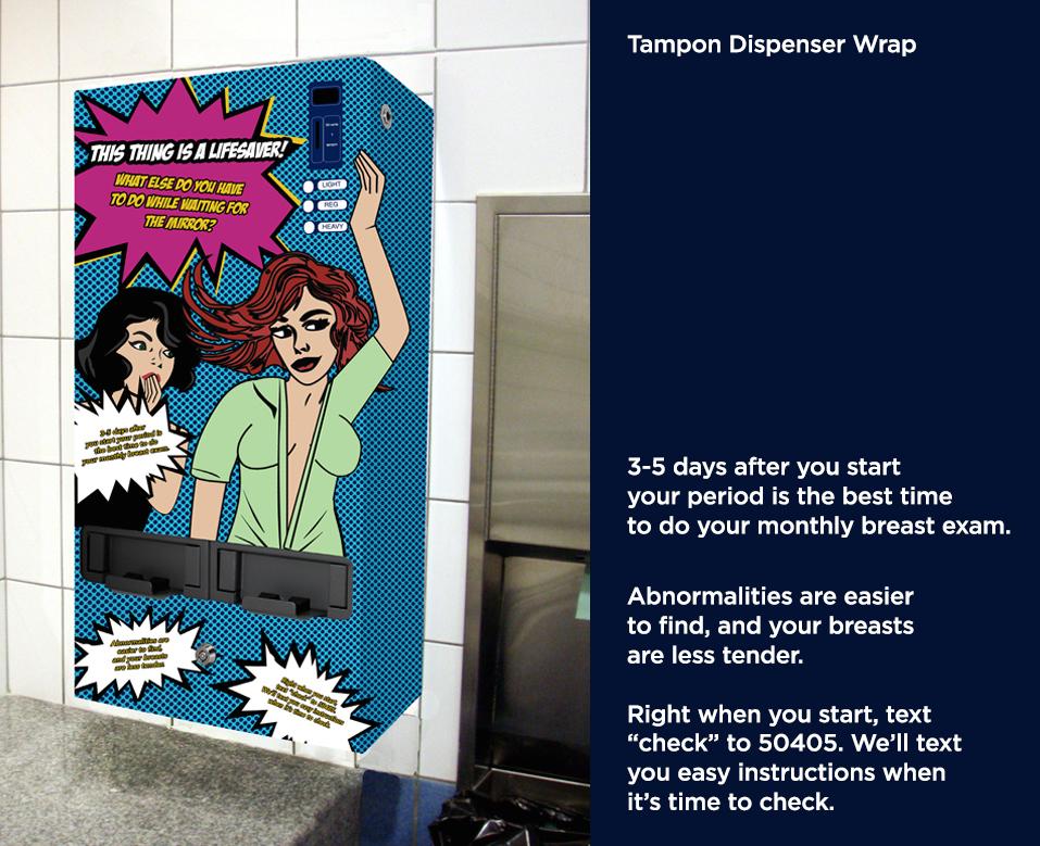 Restroom Tampon Dispenser Wrap
