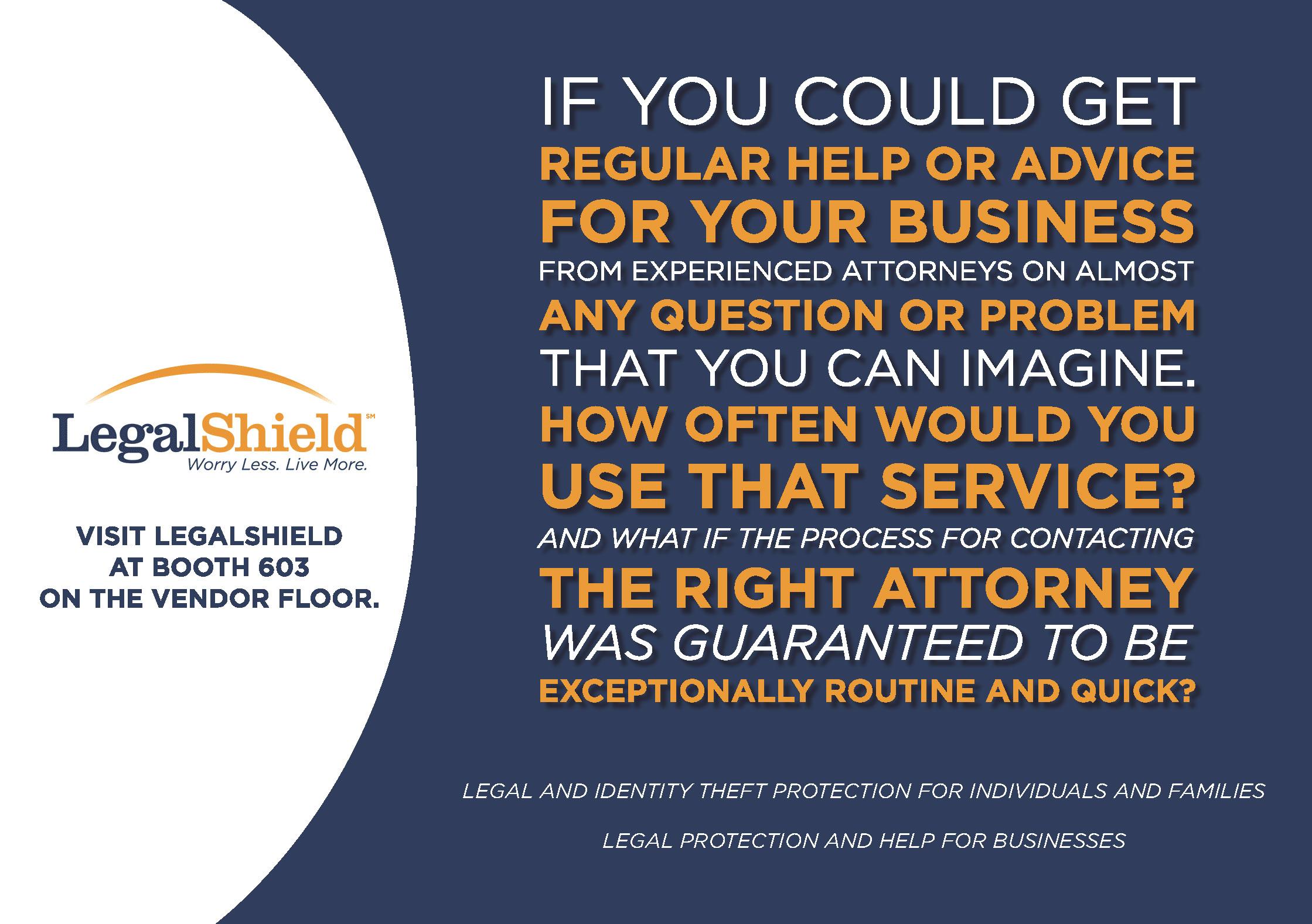 LegalShield Tradeshow Ad