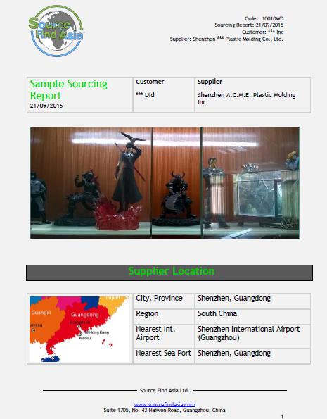 Sample Sourcing Report