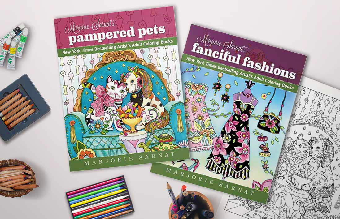 Announcing New Coloring Books You Won't Want To Miss — Marjorie Sarnat  Design & Illustration