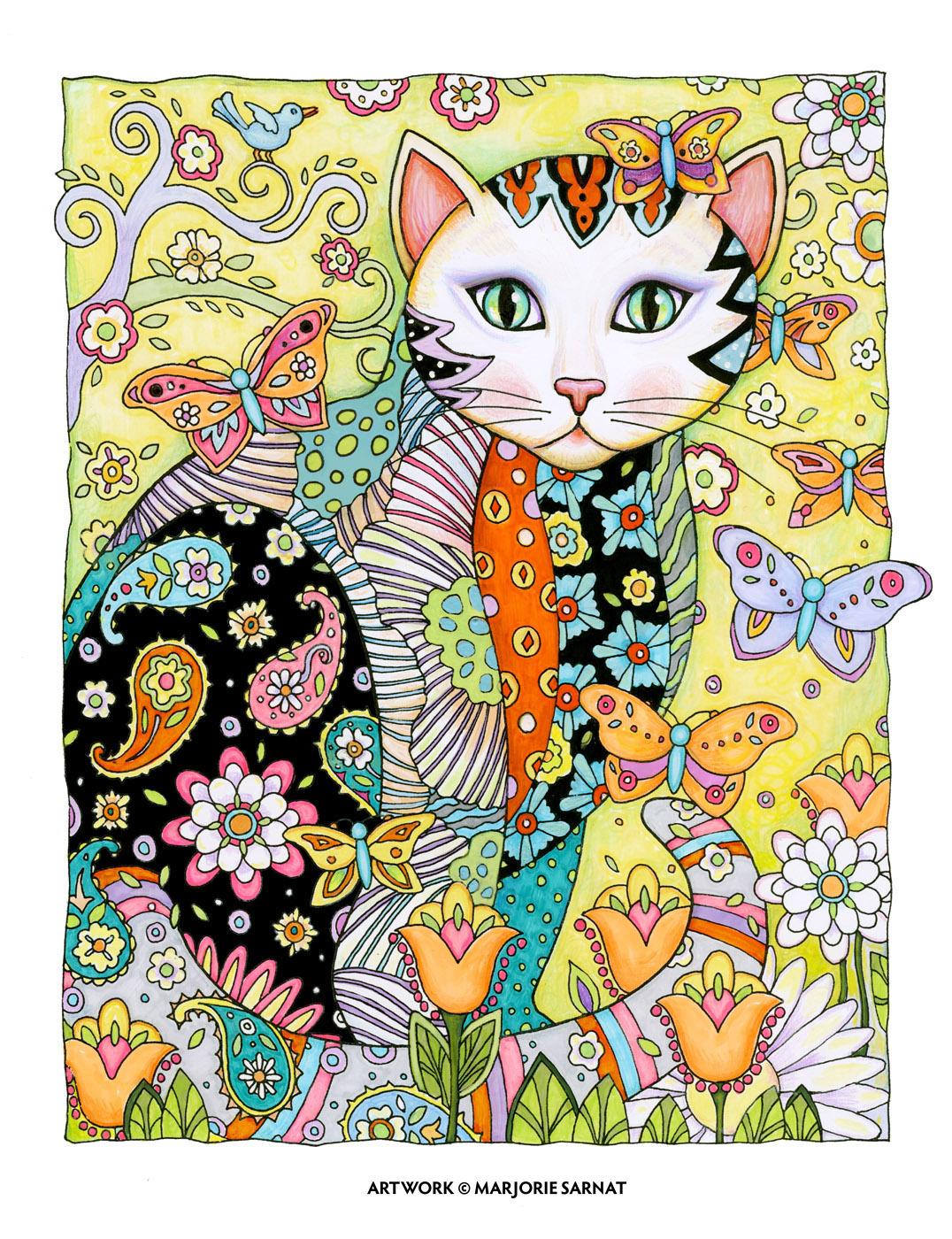 CREATIVE CAT – FLUTTERS ©MARJORIE SARNAT