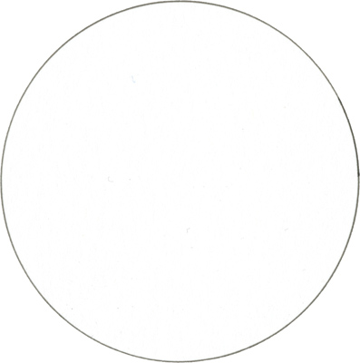 1) Start with a circle bubble shape. For this step by step, I will use colored pencils and a dash of white paint.