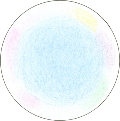 3) Add pastel colors here and there in the outer white area. Keep these colors very light.