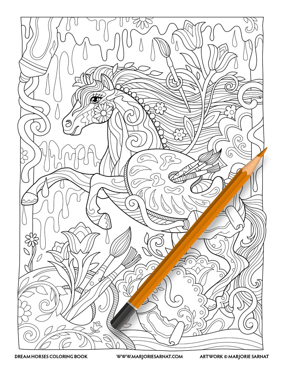 Dream Horses — Marjorie Sarnat Design & Illustration