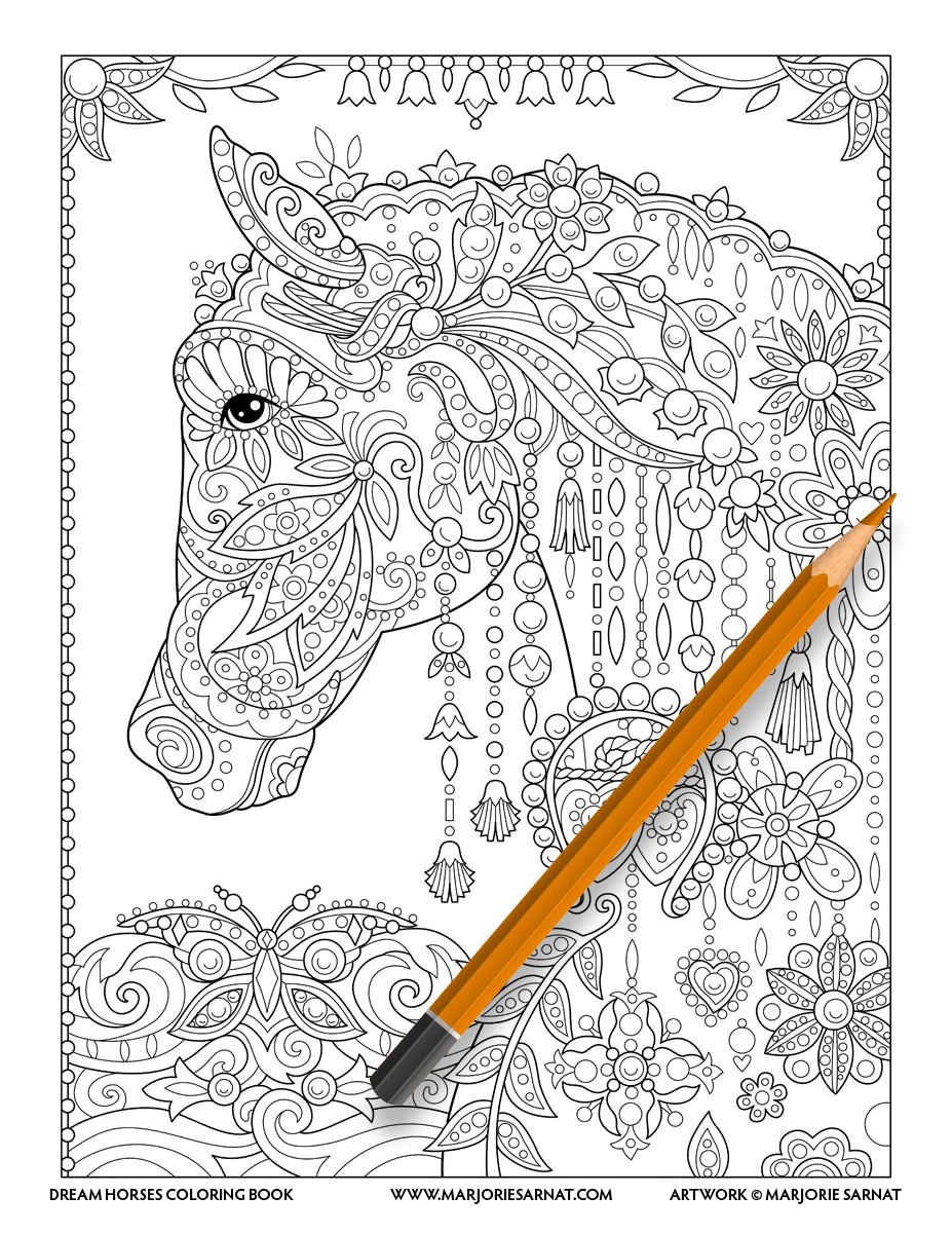Jeweled Horse Head