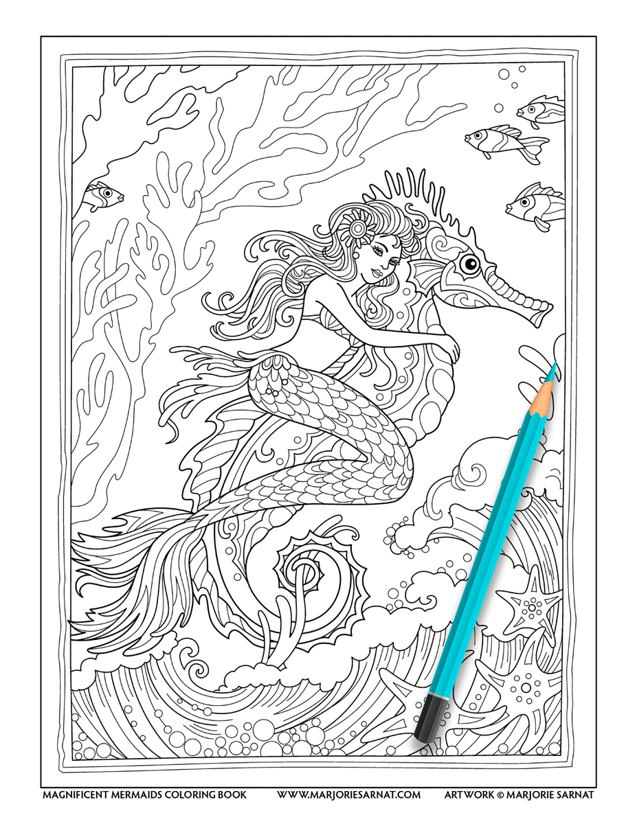 Mermaid on a Seahorse