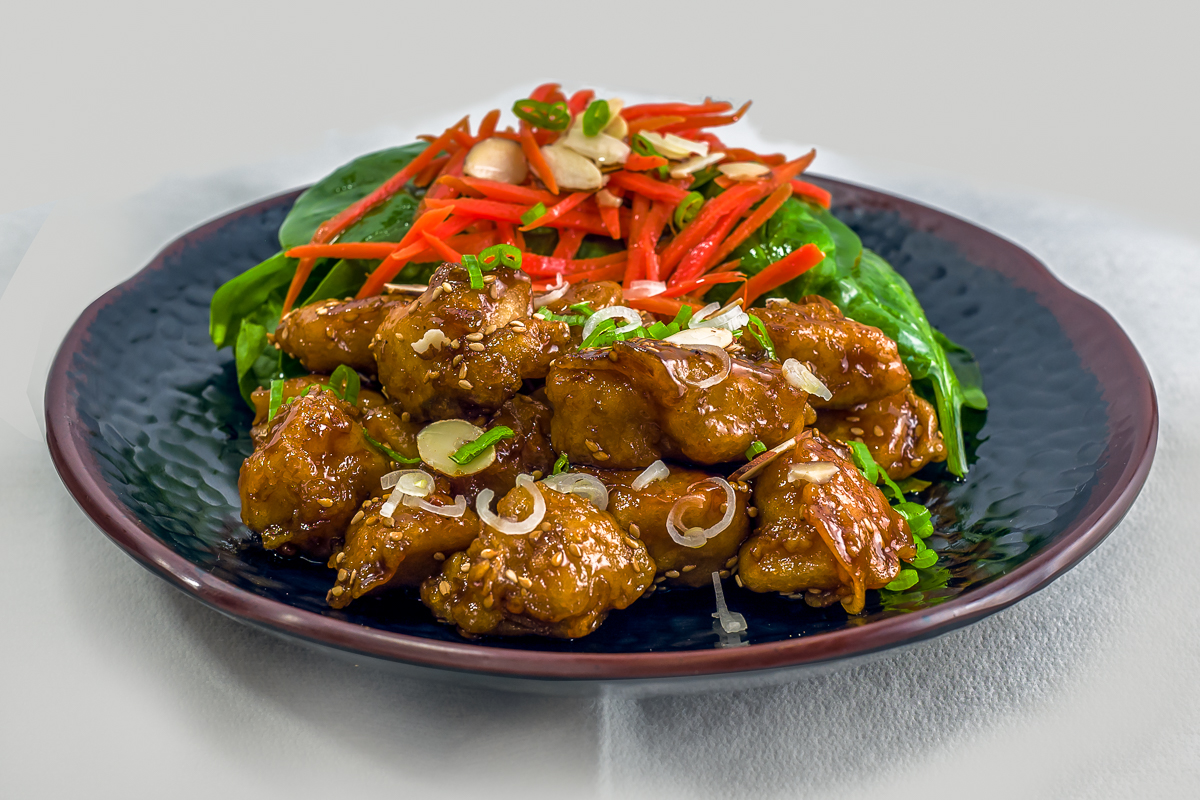 Dak Kang Jung (Sweet and Crispy Chicken Breast)