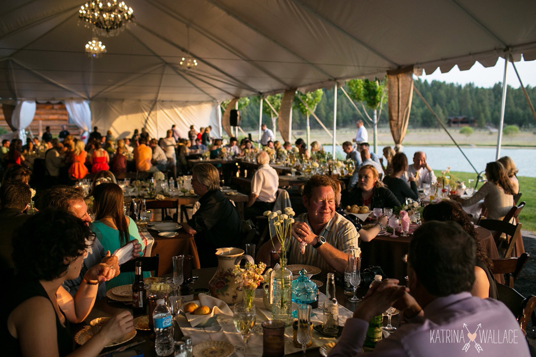Tented Event by Lake