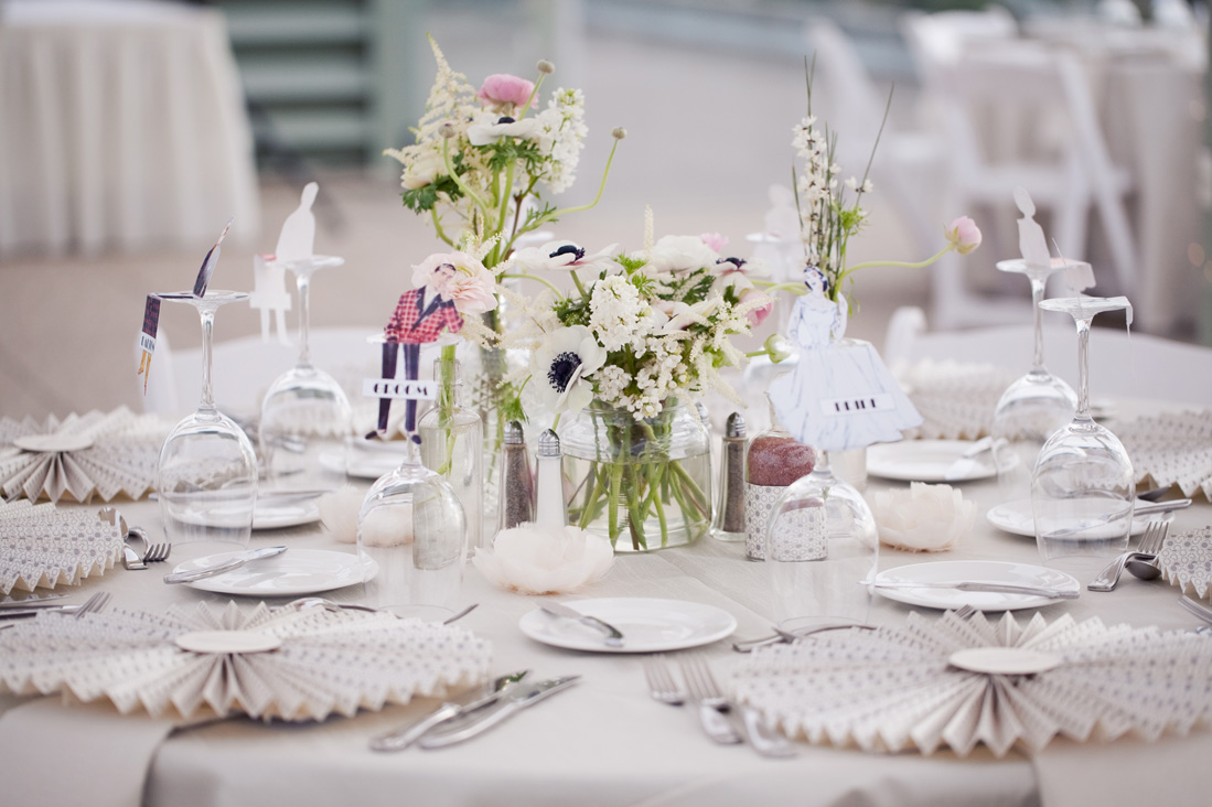 Pink & White Vintage Table