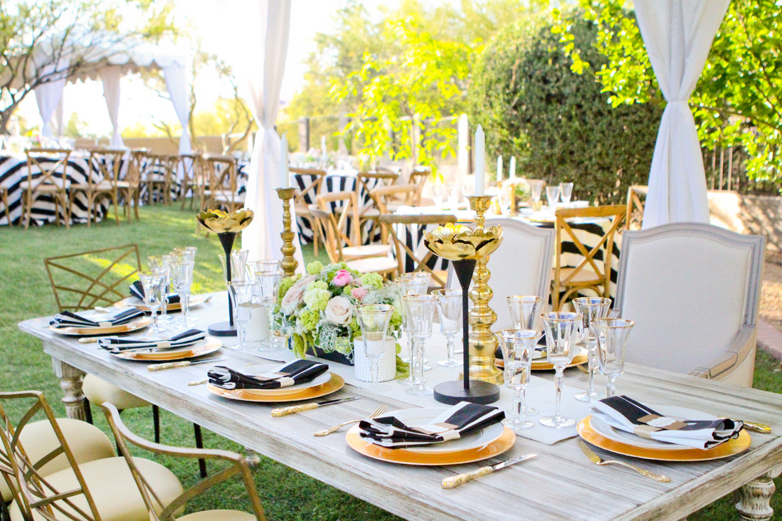 Vanessa + Matt's Black Tie Mexican Reception - Scottsdale Private ResidencePhotographer: Alex Siordian