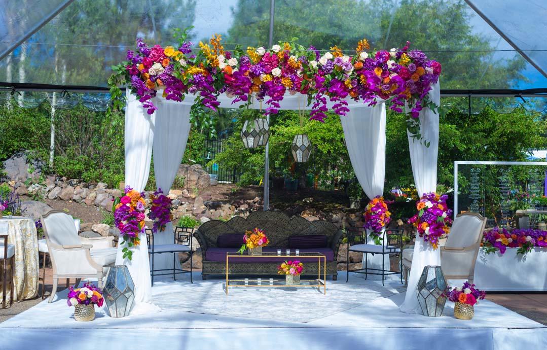 Amanda + Kunal's Western Ceremony & Cocktail Hour - The Garden's At ViolasPhotographer: Sameer Soorma
