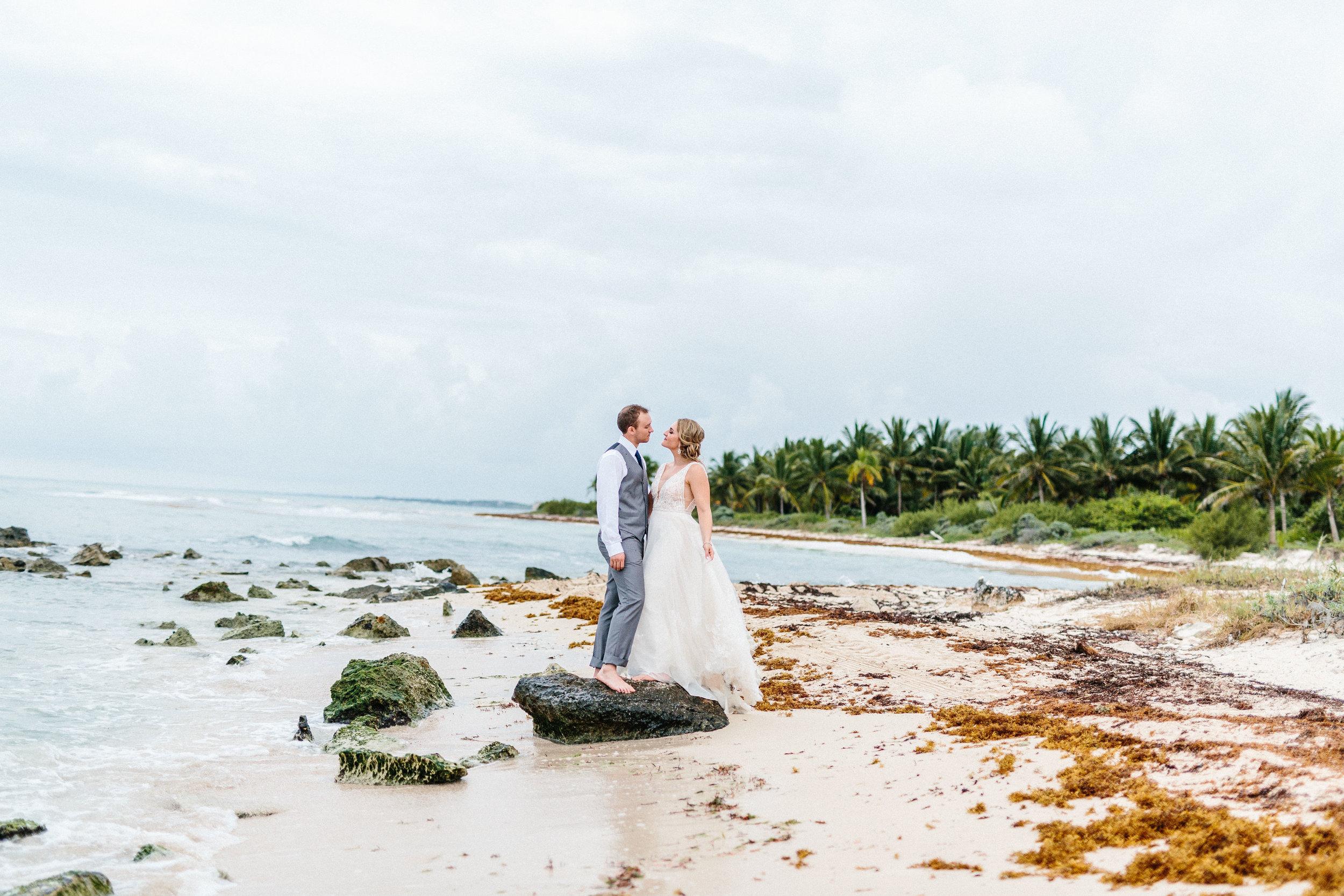 Christian + Ryan's Destination Wedding - Dreams Resort TulumPhotographer: Hannah Rose Gray Photography