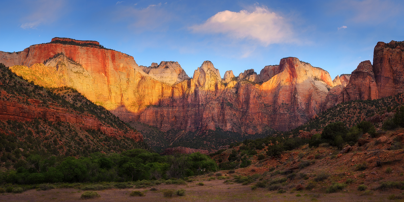 A New Day - Towers of the Virgins, Zion National Park, UT