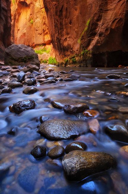 Half Way - Zion Narrows, Zion National Park, UT