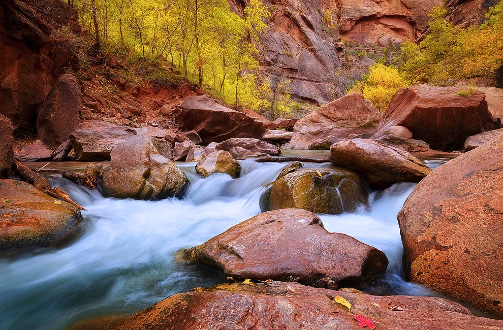 First Start - Virgin River, Zion National Park, UT