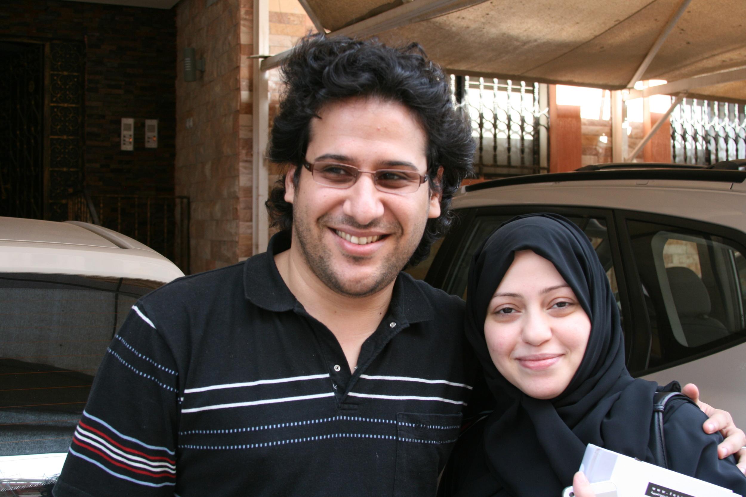 Waleed Abu al-Khair och Samar Badawi i mars 2014, några veckor innan Waleed kastades i fängelse och dömdes till femton år. Foto: Per Luthander