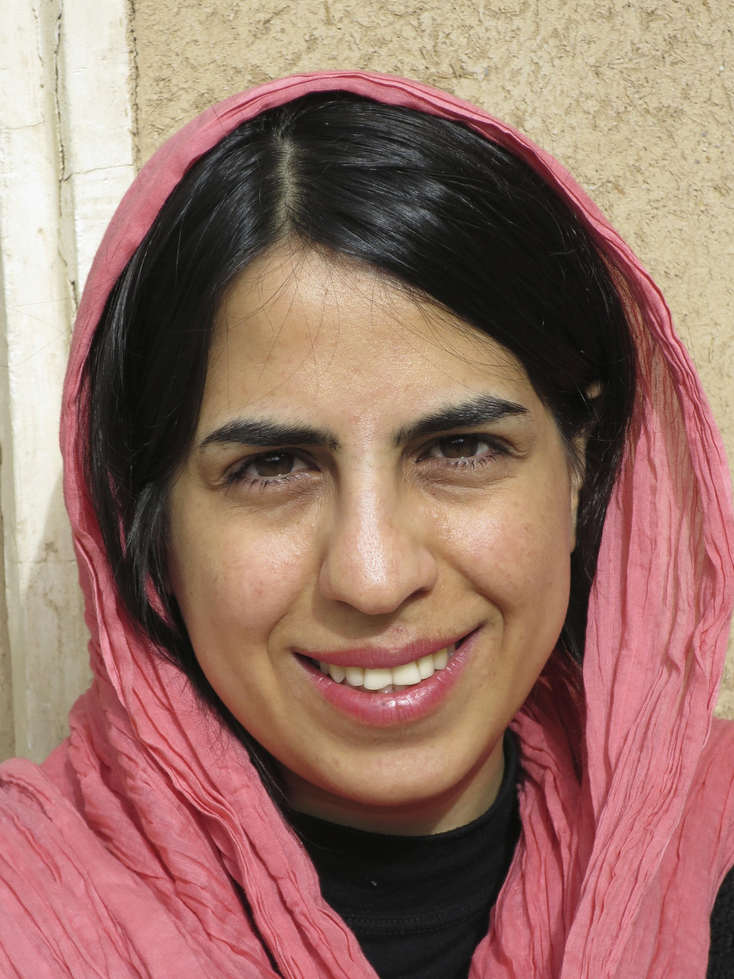 Roqiye Tavakoli – ung filmare från Yazd.                      Foto: Per Luthander