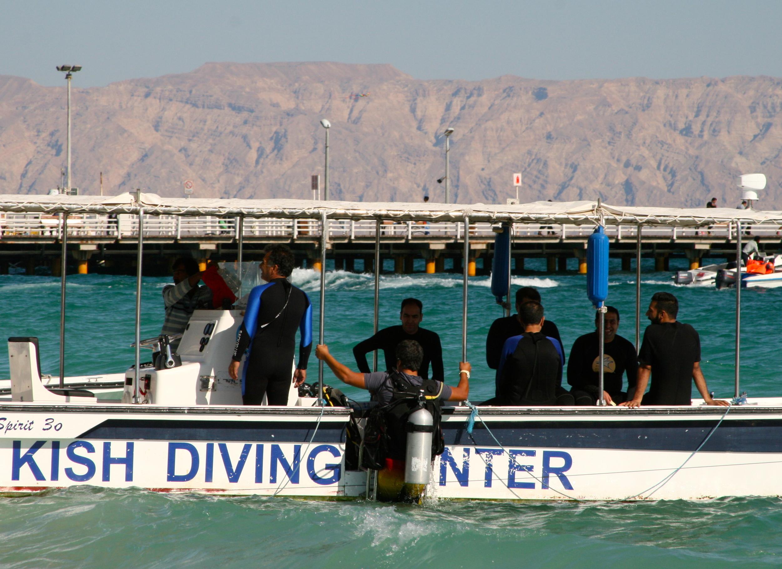 Vattensporter är populära på Kish. Foto: Per Luthander