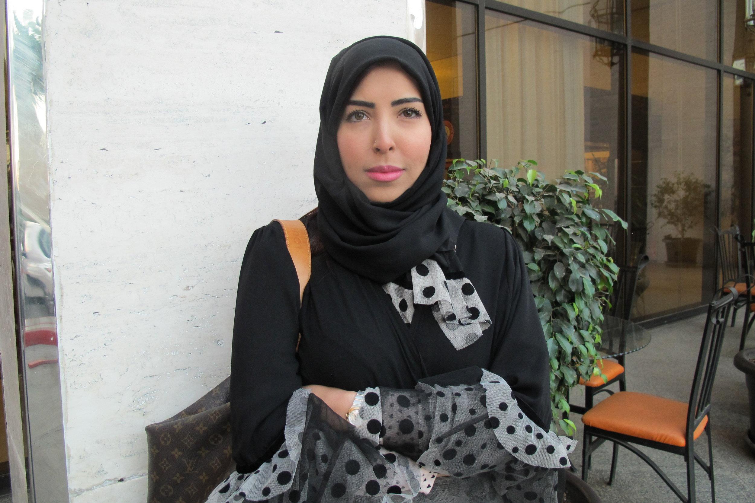 Tamador Alyami i Jidda är en av dem som gått ut i eget namn när hon postat YouTube-filmer av sig själv bakom ratten. Foto: Bitte Hammargren