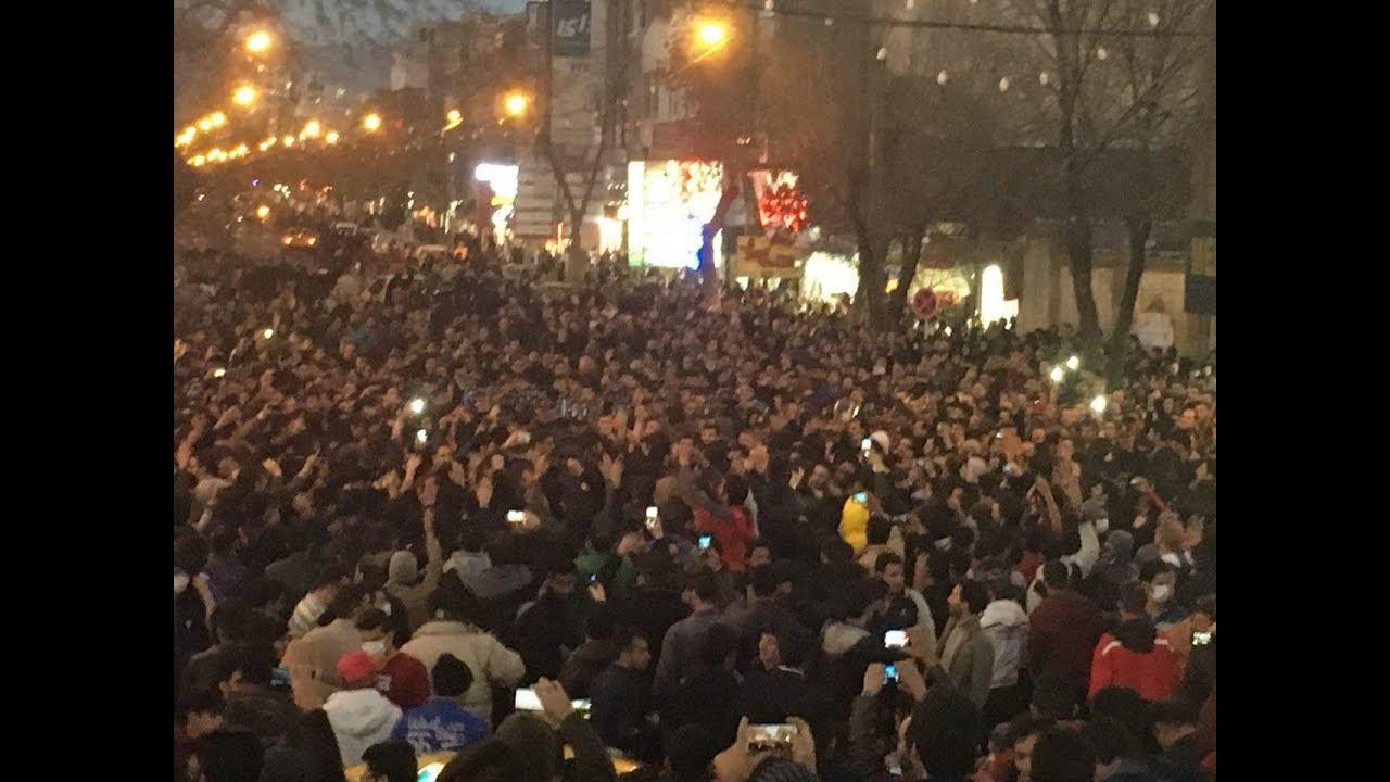 Protests in Zanjan, 30 December 2017. Photo from YouTube.