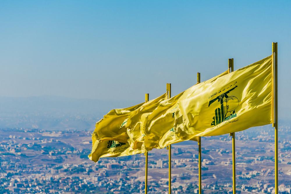 Hizbullah flags over south Lebanon. Photo: John Grummit/Shutterstock