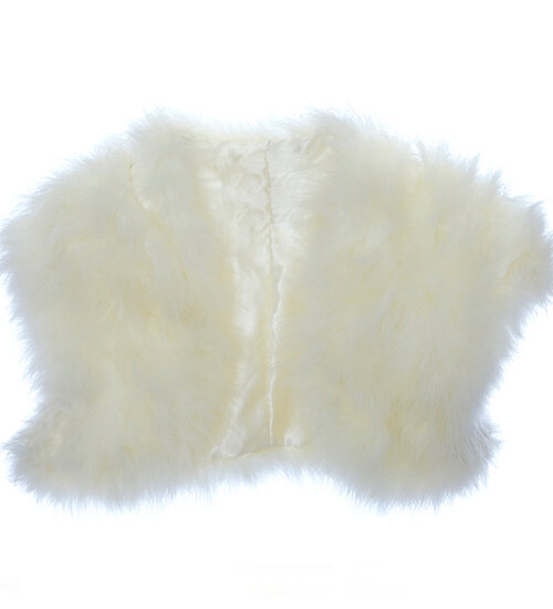 Ivory Marabou Feather Bolero
