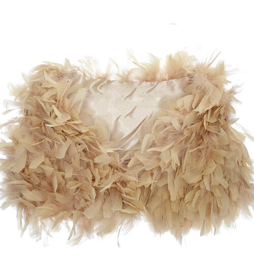 Ruffle Feather Wrap