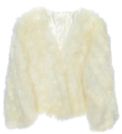 Marabou Feather Bridal Jacket