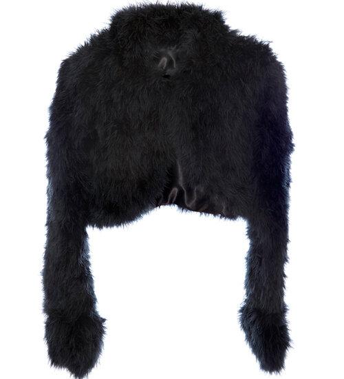 Marabou Feather Crop Jacket