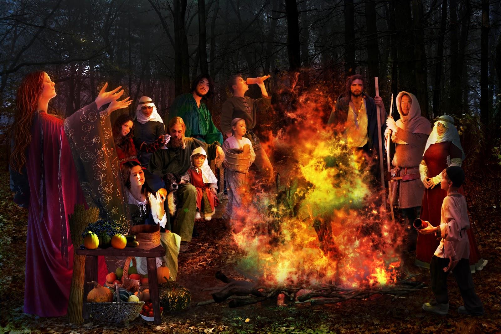 Samhain bonfire    by Maree Jamieson