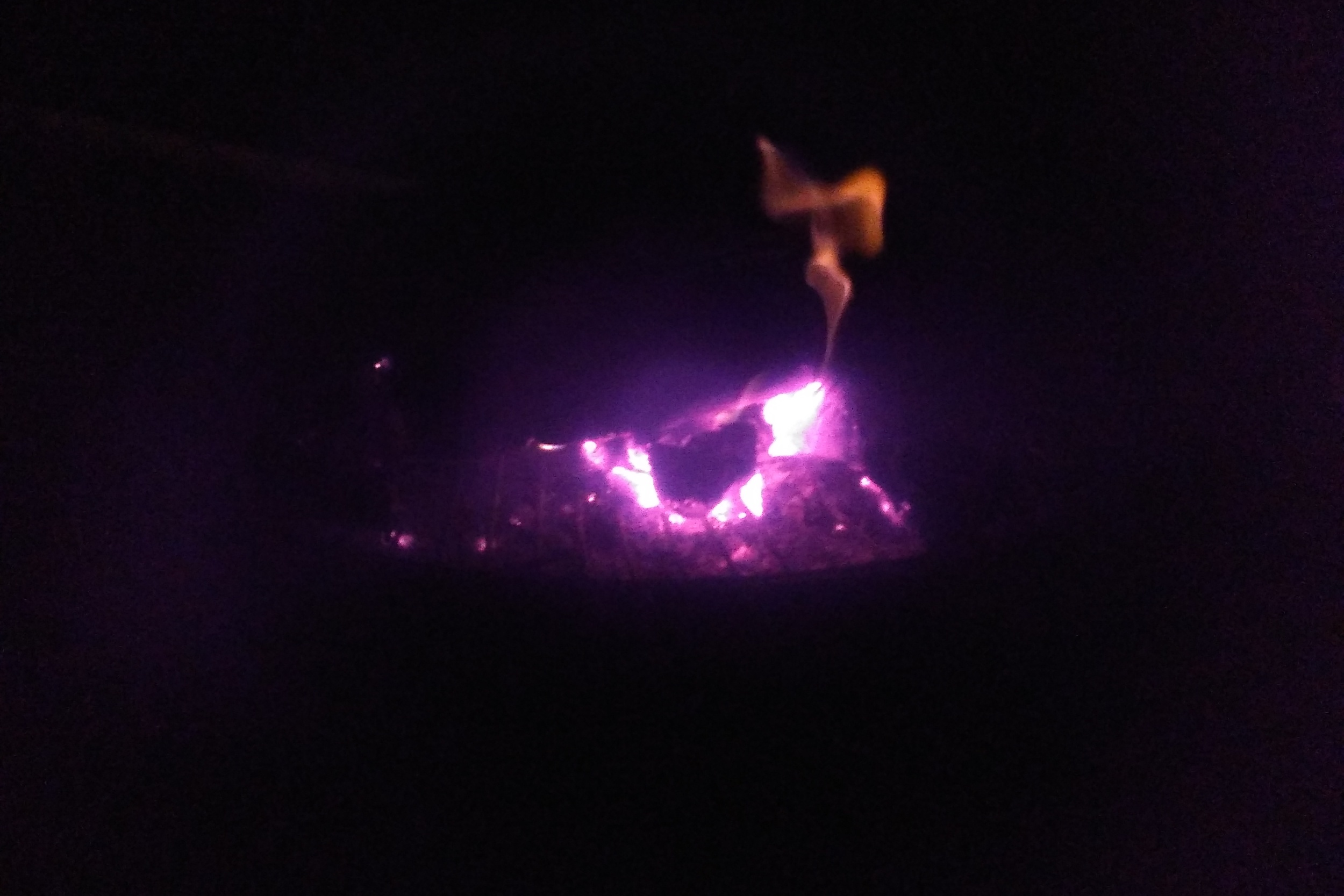 Martin's fire bowl put to good use - thanks Linda for the picture.