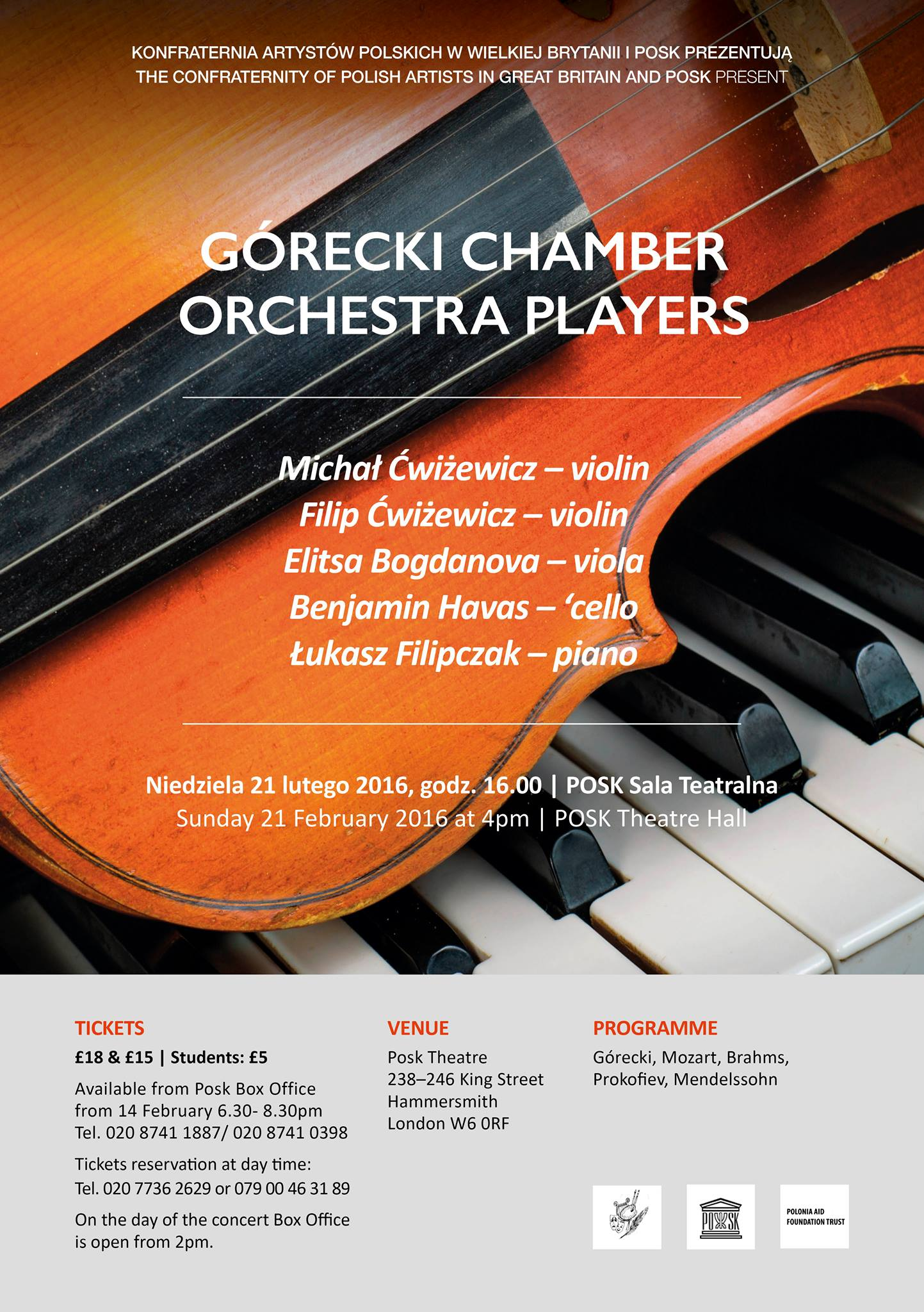 Górecki Chamber Orchestra - Players Concert