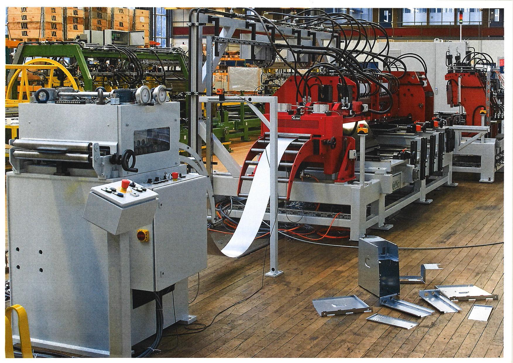 WEMO refurbished machine voor stalen omkasting