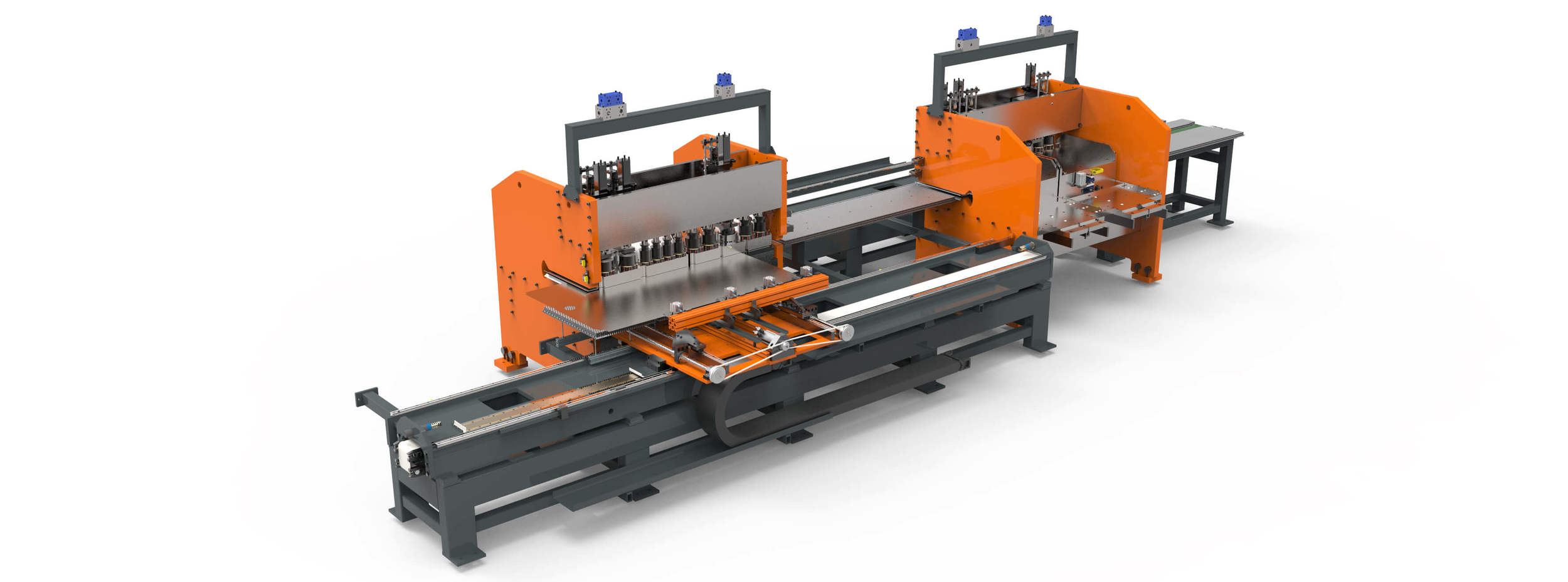complete punching bending and welding production line for producing lockers and cabinets