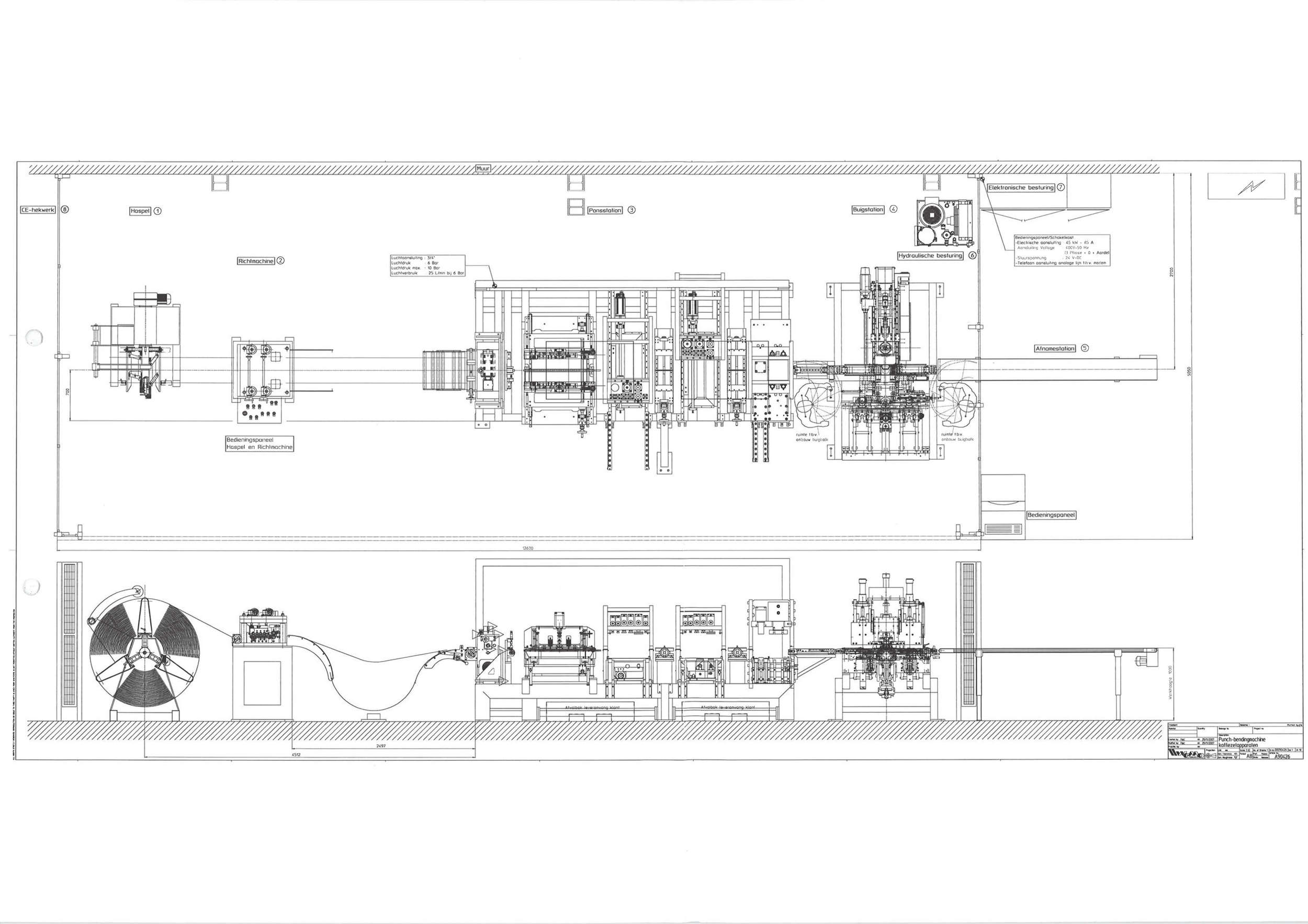 Lay out of a Pre-owned WEMO production line