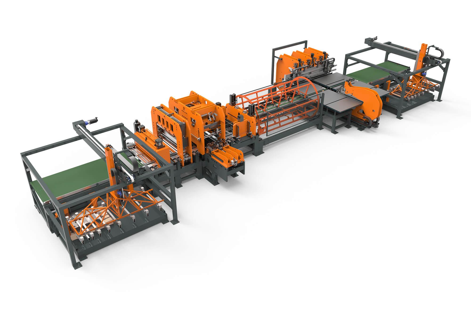 WEMO productielijn afbeelding met plaatponsen