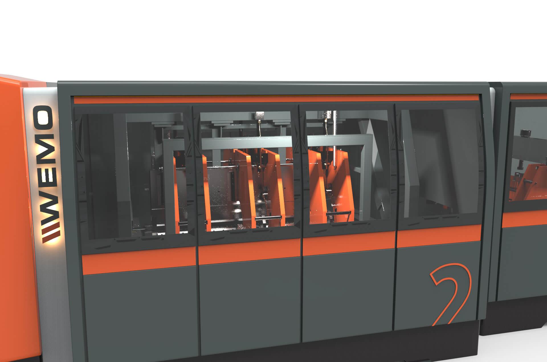 WEMO nieuwe productielijn design foto van dichtbij productie proces