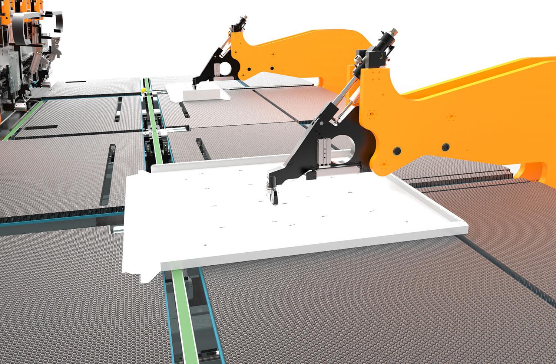 WEMO Machines CNC biege station mit Handlingsysteme